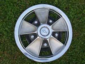 1965 1966 Chevy Chevelle 14 Mag Style Hubcap 551851 Green Bowtie