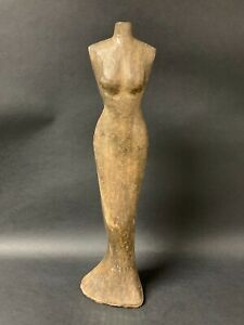 Handcarved Wood Dress Form Papermache Mold