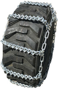 Compatible W Mahindra 3650 Pst Ag R1 Front 9 5 16 V Bar Tire Chains
