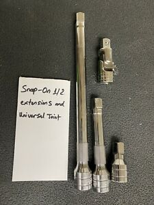 Snap On 1 2 Drive Extension Set And Universal Joint