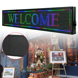 Business Signs 40 x8 Led 7 colors Scrolling Light Sign Wifi connection Used