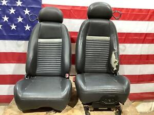 03 04 Ford Mustang Mach1 Front Seat Pair Lh Rh Black See Damage In Description