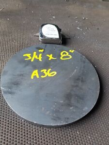 Steel Plate Round Disc 8 Diameter X 3 4 Thick A36 Lathe Stock