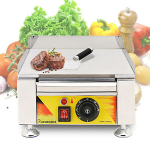Table Top Portable Flat Top Grill Outdoor Camping Cooking Bbq Food 110v