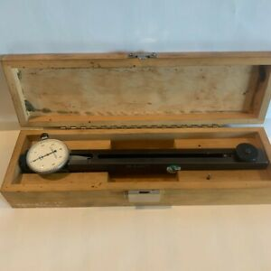 Mueller Shallow Diameter Groove Gage 0001 1 2 6 With Wood Case