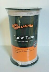 Gallagher 1 2 Turbo Tape 656 1 8 Mile Long Portable Electric Fence New