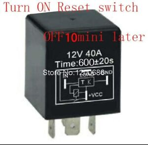 Timer Relay Delay 30a 10 Minutes Off After Reset Switch Turn On 12v Automotive