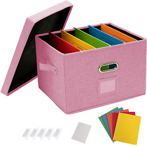 Office Document File Organizer Sturdy Metal Handles Durable Home Storage Supply