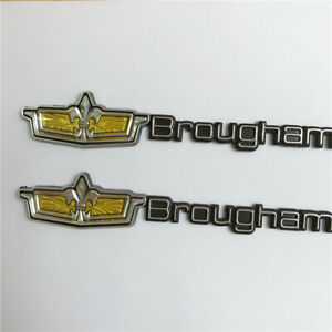 2x 1980 90 Caprice Classic Brougham Ls Roof Emblem Badge For Chevrolet Chevy