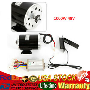1000w 48v 3000rpm Electric Motor W Base Speed Controller foot Pedal Throttle