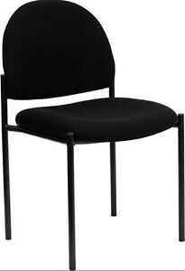 Black Fabric Stack Office Guest Chair