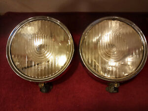 1920 S Mercedes Headlights Bosch Lens Large Approximately 10 Across