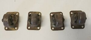 Vintage Set Of Small Bottom Mount Casters