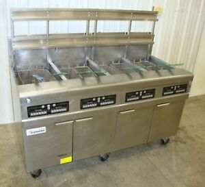2018 Frymaster 4 bay Natural Gas Fryer Fpph455 With Filtration