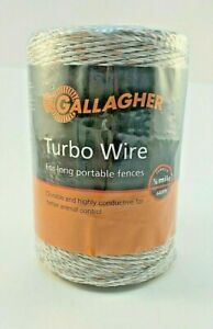 Gallagher Turbo Wire 660 1 8 Mile Long Portable Electric Fence Farm New