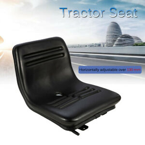 Adjustable Pvc Tractor Seat W Sliding Rail For Forklift Riding Mower Excavator
