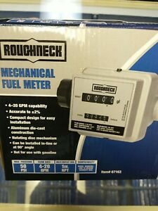 Roughneck Mechanical Fuel Meter 4 20 Gpm 1in Inlet outlet New Factory Sealed