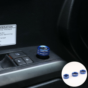 Alloy Blue Rearview Mirror Adjust Volume Knobs Ring For Toyota Tacoma 16 19 Us
