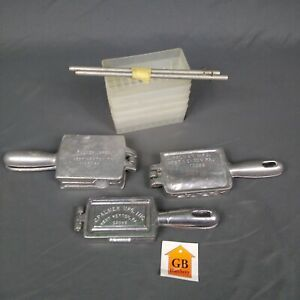 3 VINTAGE C PALMER LEAD SINKER MOLDS Fishing Weight DIY Production USA Qualify $65.59