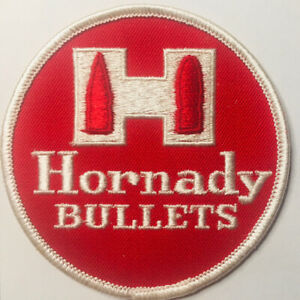 HORNADY BULLETS SEW ON PATCH AMMUNITION HUNTING FIREARM COLLECTIBLE 3 1 2quot; $19.98