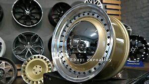 New 17 Inch 4x100 Deep Dish Smoothie Wheels For Vw Golf Caddy Jetta Lupo Old G