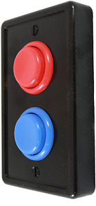 Arcade Light Switch Plate Cover Single Switch Black Red Blue 1 Gang Standard $19.90