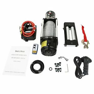 13000lbs Electric Winch 12v Steel Cable Off Road Utv Truck Towing Trailer