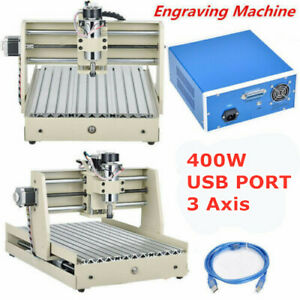 3axis Usb Cnc 3040 Router 3d Engraver Wood Pcb Engraving Drill Mill Machine 400w