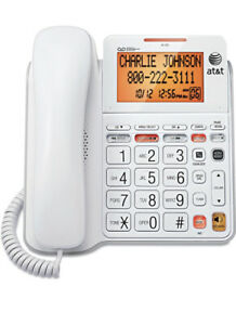 New At t Corded Backlit Telephone Cl4940 Digital Answering System W ac Adapter