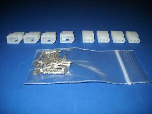 3 Pin Molex Connector Kit 4 Sets W 18 24 Awg 062 Pins Free Hanging 0 062