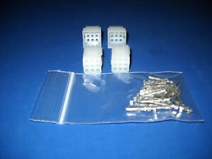 9 Pin Molex Connector Kit 2 Sets W 18 24 Awg 062 Pins Free Hanging 0 062