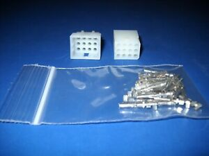 12 Pin Molex Connector Kit 1 Set W 18 24 Awg 062 Pins Free Hanging 0 062