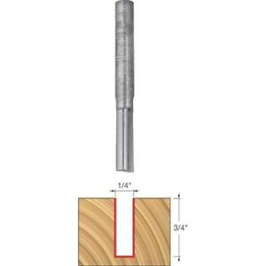 Freud 04 106 1 4 x3 4 Double Flute Straight Router Bit With 1 4 shank