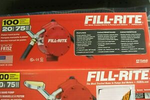 Fill rite Fr152 Fuel Transfer Piston Hand Pump With Hose And Nozzle Spout