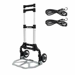 Folding Hand Truck And Dolly Heavy duty Luggage Trolley Cart With Telescoping