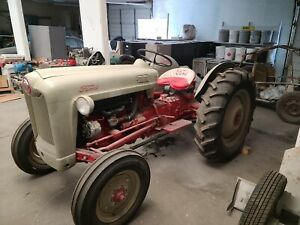 1953 Ford Golden Jubilee Tractor 8n Red Tiger Engine