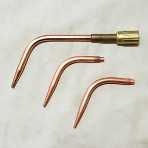 Airco Brazing Welding Torch Tip Set 8100781 Mixer Size 1 3 5 Style 98 Tips