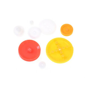 7pcs Motor Synchronous Belt Plastic Pulley Wheel For Diy Toy Car Accessorie ss
