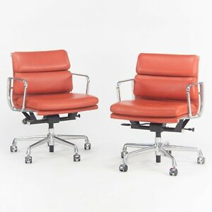 Herman Miller Eames Aluminum Group Soft Pad Management Chair Red Edelman Leather