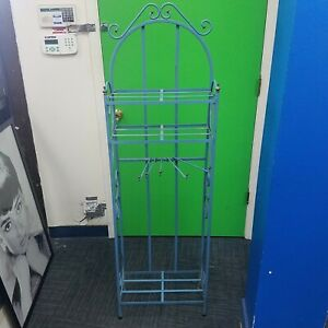 Vintage Clothes Drying Rack With 5 Arms Mcm 18 X 9 X 59 Wrought Iron Blue