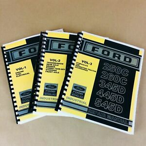 Service Repair Shop Manual For Ford New Holland 250c 260c Tractor Loader Set