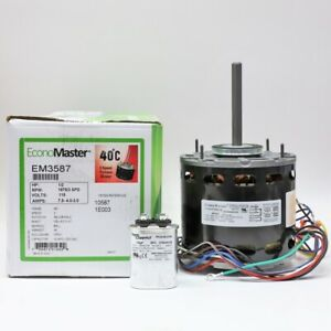 Hvac Blower Fan Motor 1 2 Hp 1075 Rpm 115 Volts For Fasco D701 With Capacitor