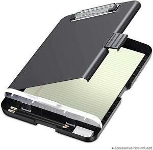 Clipboard With Storage Portable Slimcase Box Case Real Hinge Plastic Lightweight
