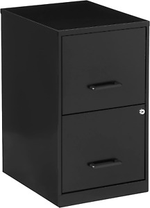 Metal File Cabinet Locking 2 Drawers Filing Home Office Storage Small Under Desk