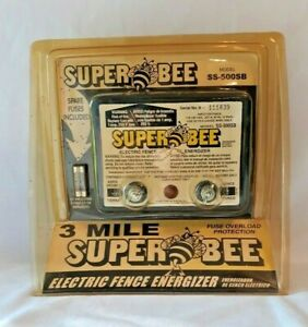 Super Bee Electric Fence Controller energizer 3 Mile Model Ss 500sb