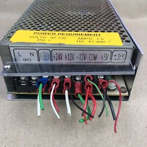Mean Well Q 120d 120 W Switching Power Supply 5vdc 12vdc 24vdc Tested Ok