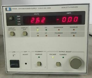 Agilent 6033a System Power Supply 0 20v 0 30a 200w As is