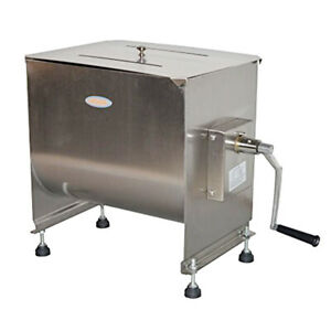 Manual Meat Mixer Machine 30l 60lbs Stainless Steel Kitchen Sausage Mixing