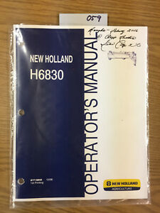 New Holland Parts H 6830 Disc Mower Cutter Catalog Operator s Manual 059