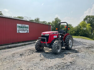 2017 Massey Ferguson 2604h 4x4 50hp Utility Tractor W 1 Remote Only 1000hrs